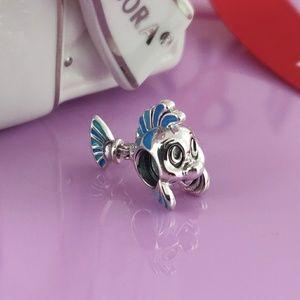 Pandora Disney Flounder Charm The Little mermaid